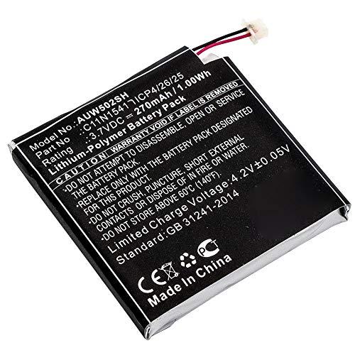 subtel Batería de Repuesto 0B200-01760100 Compatible con smartwatch ASUS ZenWatch 2 (W1502QF), 270mAh Accu Battery Pack