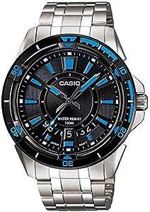 ساعة يد رجالي من كاسيو ، انالوج بعقارب ، ستانلس ستيل ، فضي ، MTD-1066D-1AV