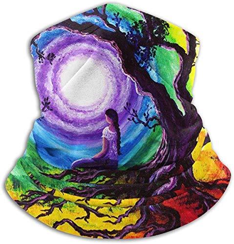 Neck Warmer Neck Gaiter Warmer Balaclavas Tree-of-life-meditation-laura-iverson Windproof...