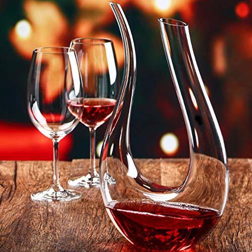 Bicchieri Da Champagne, Tazze, Tazzine Da Caffè 1500Ml Forma A U Vino Rosso Versatore Aeratore Rapido Decanter Dispenser Home Bar Strumento Bicchiere Di Cristallo Decanter Per Vino Accessori Per Bar