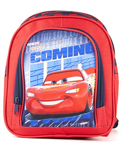 Disney Pixar Cars Lightning McQueen Kid's Red School Backpack