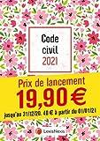 Code civil 2021 - Jaquette Petites fleurs