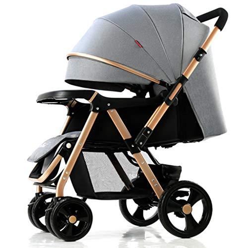 STRR kinderwagen met grote boodschappenmand, opvouwbaar, geschikt voor reizen, voor pasgeborenen