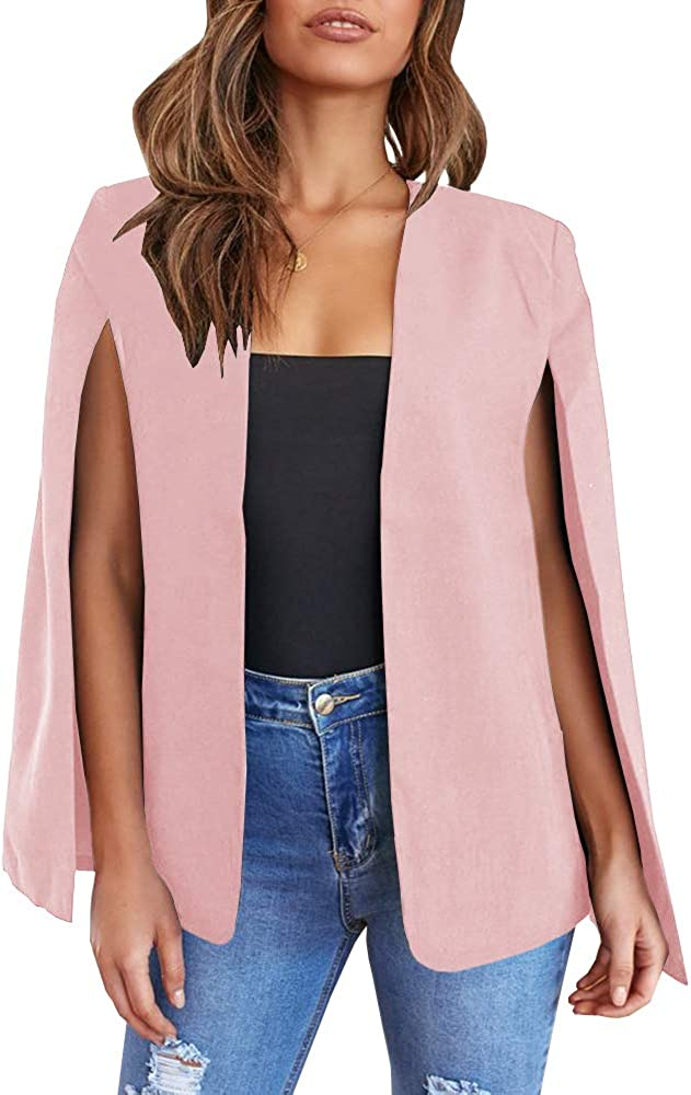 GAMISOTE Womens Cape Blazer Split Sleeve Open 5 ☆ very popular Jacke Front Casual Max 41% OFF