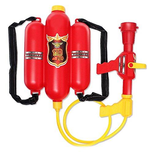 XICHEN Firefighter Backpack Water Gun Toys Large amount of water Long range Red Summer Fun