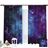 ZXAWT Galaxy Stars Abstract Space Background Curtains Pocket top Curtain Thermal Insulated Curtain for -Set of 2 Panels(W 63' L 72')