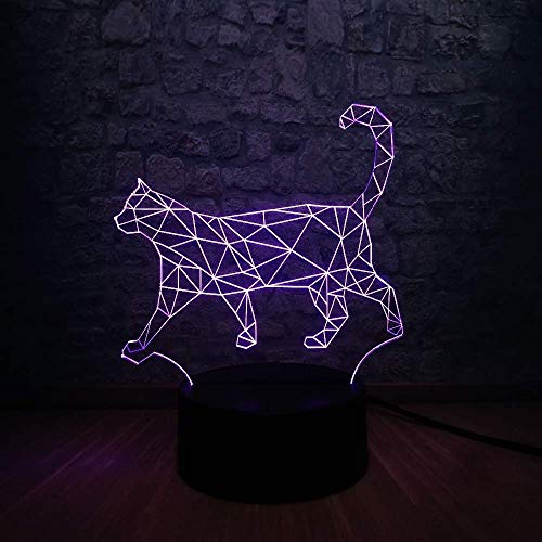 3D LED nachtlampje Lazy Cat Walking Cat Lamp meerkleurig kindercadeau Kerstmis tafeldecoratie verlichting touchcolorful stereoscopic Vision Lightbaly