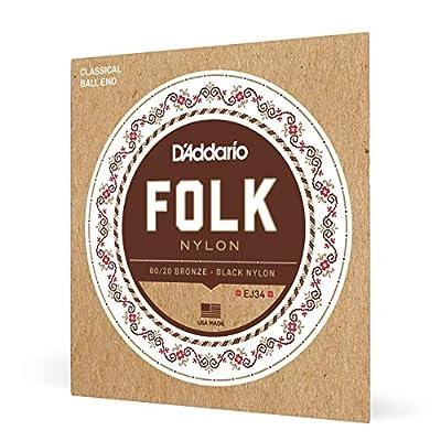 D'Addario Folk Nylon Guitar Strings Ball End Silver
