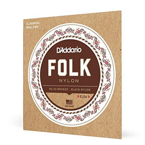 D'Addario EJ34 Folk Nylon Guitar Strings