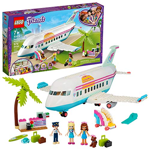 LEGO Friends Heartlake City Airplane 41429, Includes Friends Stephanie and Olivia, and Lots of Fun Airplane Accessories to Spark Fun and Creative Playtimes, New 2020 (574 Pieces)