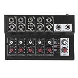 Hyuduo1 Mixer Audio, Mixer Audio Stereo Portatile a 10 canali, Console Amplificatore Micro...