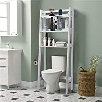 Kingso Space Saving Bathroom Cabinet Organizer for Toiletry (White)