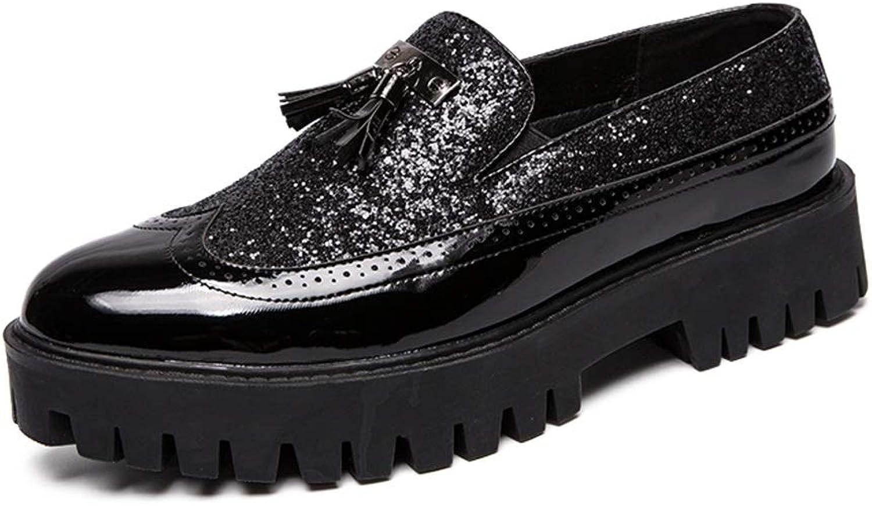 Yajie-schuhe, Herren Oxford Oxford Oxford Casual Mode wies Trend mit Hellen Leder spleißen Lackleder dicken unteren Quaste Formale Schuhe (Farbe   Schwarz, Größe   40 EU)  f83bef