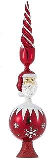 Kurt Adler 15.75-Inch Red Santa Glass Treetop