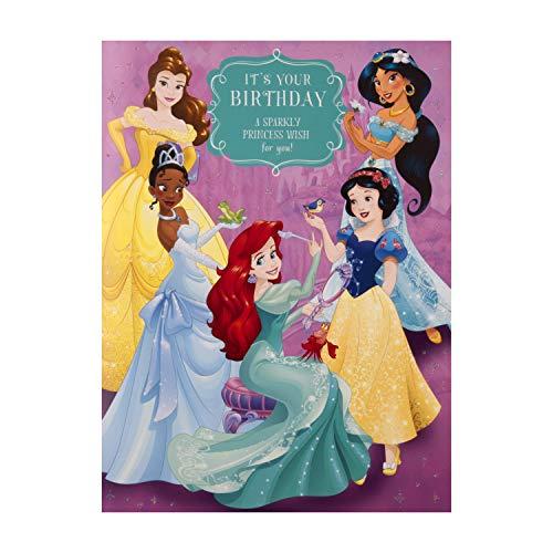 Disney Princess Verjaardagskaart voor kinderen van keurmerk - Groot formaat