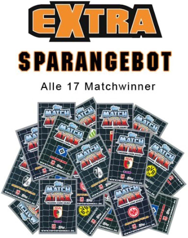 más orden Match Attax extra Bundesliga Todos los 17Match Winner Temporada 12 12 12 13  autorización