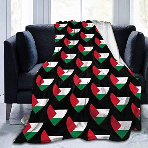 """JONINOT Manta De La Siesta Felpa Sofás Franela Amor Bandera de Palestina 40""""x50"""" Buen sueño"""