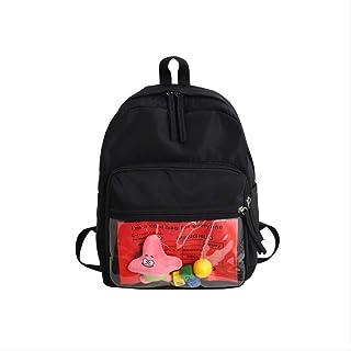 Versión Coreana Creativa de la Original Cebu Junior High School Student Bag Personality Backpack Tide Transparent