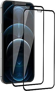【2枚セット】iPhone 12 Pro Max ガラスフィルム 日本旭硝子製/全面保護/硬度9H iPhone 12 Pro Max 強化ガラス フィルム 飛散防止/3D Touch対応/指紋防止/撥水撥油/高透過率/ラウンドエッジ加工/自動...