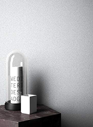 NEWROOM Steintapete Tapete Hellgrau Unifarbe Struktur Uni Vliestapete Modern Vlies moderne Design 3D Optik Einfarbig Unifarben inkl. Tapezier Ratgeber