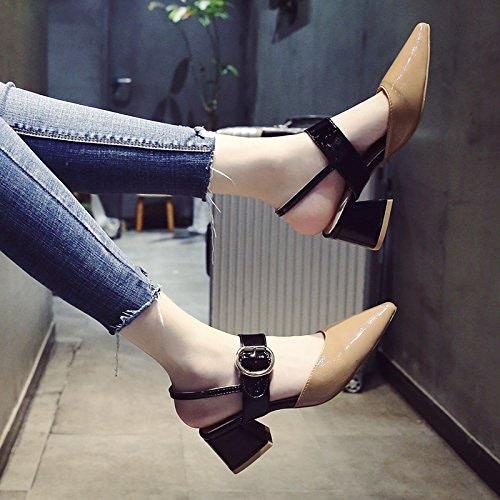 YMFIE Simple Mode Fashion de l'été a Fait des Hautes Chaussures de Talon Ladies' Sandales.