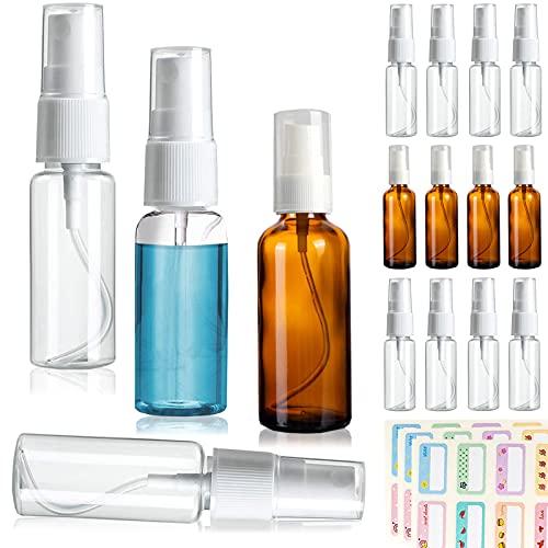 Bote Spray Pulverizador, Sanlianzi 20pcs Botellas Vacías De Plástico Botella De Spray Vacia Bote Spray Transparente Atomizador Niebla Fina Recargable para Agua, Perfume, Líquido, Viajes