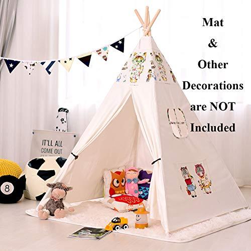 SAsagi Maison de Jeu Indien Style Pop-up Enfants,Petite Tente Jeu Maison intérieur extérieur bébé Jouet Maison Filles garçons Prince Princess Room-C