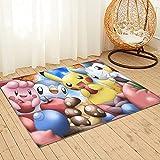 Grande tappeto da cucina Pokemon con retro antiscivolo per cucina, tappetino con assorbimento d'acqua, lavabile in lavatrice, 91 x 61 cm