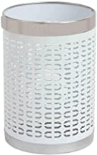 ZXJshyp Metal Trash Can Wastebasket Garbage Container Bin for Bathrooms Powder Rooms Kitchens Home Offices