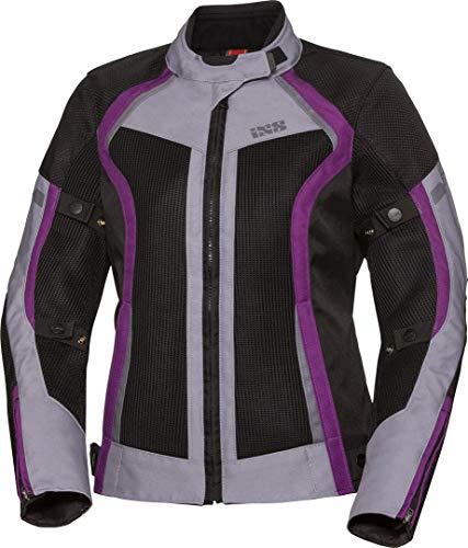 IXS Sport Andorra-Air Giacca donna moto tessile Nero/Porpora Lady M