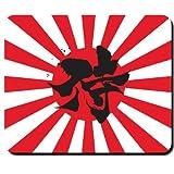 Samurai Krieger Japan Flagge Fahne Sonne Kung-Fu Karate Kampfsport Ehrenkodex Codex Ninja Kämpfer - Mauspad Mousepad Computer Laptop PC #16543