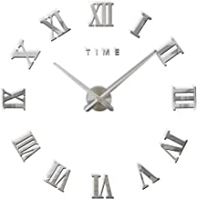 100cm Extra Large Solid Wooden /& Metal Square Roman Numerals Wall Clock 1m Wide