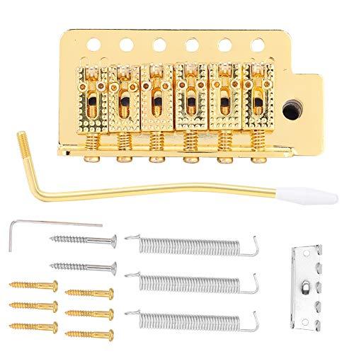 JUANJAUN Tremolo-System Mit Roller Single Sperren Vibato Bridge Rückenstück Für ST Gitarre (Gold) 1