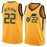 GPUI Jazz 22# Sefolosha 2020/2021 Temporada Men's Basketball Jersey, Negro City Edition Jersey, Camisetas de Baloncesto de Entrenamiento sin Mangas (S-2XL) L