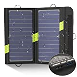 X-DRAGON Solar Ladegerät 14W 2-Port USB Outdoor Handy SunPower Solarpanel Ladegerät für iPhone, Huawei, Andriod Smartphone, Tablets, iPad, Samsung, Camping, Outdoor