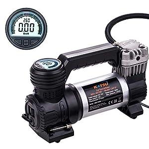 51KmOHWTfnL. SS300  - KATSU Mini bomba de compresor de aire con inflador de neumáticos digital portátil para automóviles, bicicletas, pelotas…