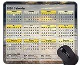 Kalender der Galaxie-2020 Mauspads Besonders angefertigt, wundert sich Strand themenorientierte Gummimausunterlage