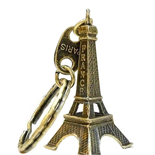 Bobury Llavero Modelo de la Torre Eiffel Llavero Retro de París Llavero Dividido del Llavero del Metal