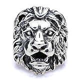 Anwaz Herren Ringe aus 925 Sterling Silber, Löwe Silberring Antragsringe - Silber Gr.54 (17.2)