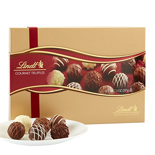Lindt Assorted Chocolate Gourmet Truffles, Gift Box, Kosher, 7.3 Ounce