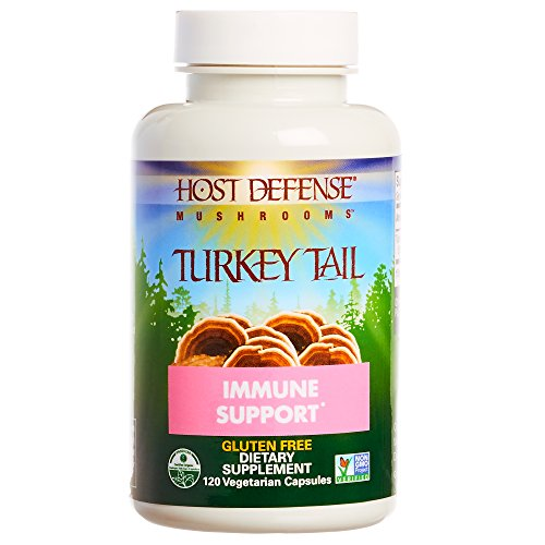 Host Defense - Turkey Tail Mushroom Capsules, Naturally Supports Immune Response, Healthy Digestion, and Hormone Balance, Non-GMO, Vegan, Organic, 120 Count