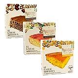 Biscuiterie de Provence Pastel de almendras y chocolate + Pastel de almendras y vainilla + Pastel orgánico de almendras y naranja Todo sin gluten y sin conservantes - (Total 705 gramos)