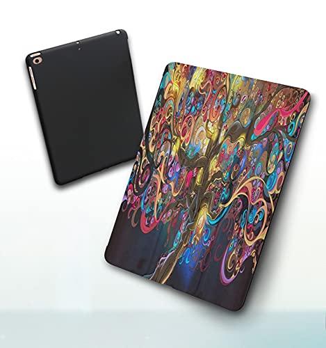 Funda para iPad 9,7 Pulgadas, 2018/2017 Modelo, 6ª / 5ª generación,Árbol de la Vida mágica Misterio de fantasía Árbol de Las Cuatro Estaciones de la su Smart Leather Stand Cover with Auto Wake/Sleep