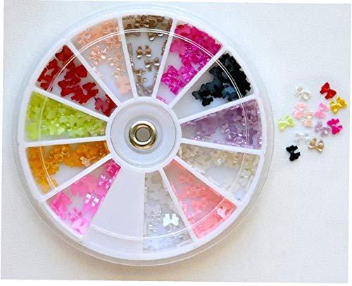 Acryl 3d Rhinstone Nail Art Glitter Bows Nail Art Steinrad Strass Perlen