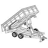 Hydraulic Dump Trailer Blueprints (12' x 6'4' - Model 12HD)