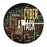 LORONA Cyber Attack Concept In Word - Falda para árbol de Navidad (47 pulgadas, para decoración de Navidad, interior al aire libre, fiesta, decoración para el hogar