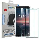 Juego de 2 protectores de pantalla de cristal templado para Nokia 8 Sirocco Digital Bay de protección antiarañazos y resistente para Nokia 8 Sirocco