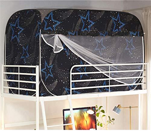 WWYYZ Cortina opaca a prueba de polvo para dormitorio o dormitorio individual para literas