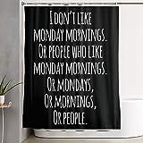VINISATH Duschvorhang,Meme lustige inspirierende Zitat Sarkasmus Montag sarkastische Haltung,wasserdichter Badvorhang mit 12 Haken Duschvorhangringen 180x180cm