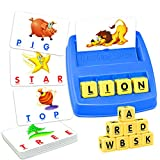 Boy Toys Age 2-8, WIKi Matching Letter Game Educational Toys for 2-8 Year